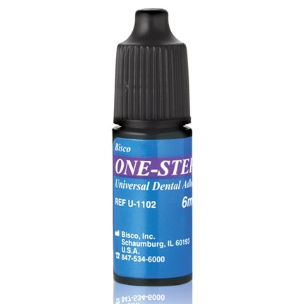 One-Step is a light-cured single component adhesive and is available in a bottle.