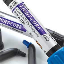 Light-Core is a light-cured core build-up composites. Two shades are available in a syringe or unit-dose.